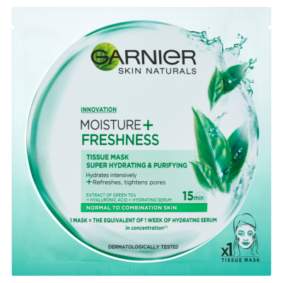 Garnier Moisture + Freshness Green Tea Maska 32g