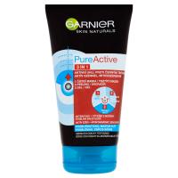 Garnier Skin Naturals Pure Active 3v1 Aktivní uhlí 150ml